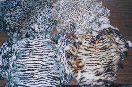Exotic Printed Genuine Rabbit Skins