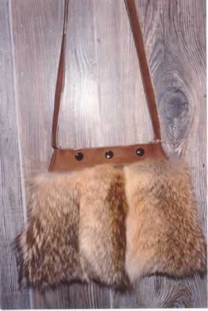 Coyote Fur Purse